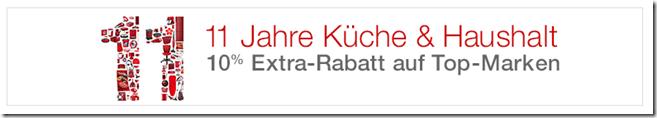 image thumb99 Amazon: 11 Jahre Küche & Haushalt, 10% Extra Rabatt auf Top Marken