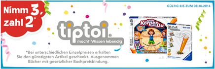 """image Toys""""R""""Us: 3 für 2 Aktion auf Tiptoi Artikel – 3 kaufen nur 2 bezahlen"""