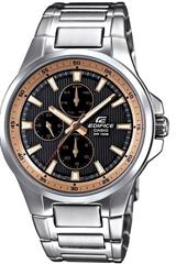 image155 Casio Herren Armbanduhr XL Edifice (Analog Quarz Edelstahl EF 342D 1A5VEF) für 46,72€
