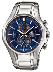 image183 Casio Herren Armbanduhr XL Edifice Analog Quarz Edelstahl EFR 522D 2AVEF für 58,42€