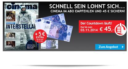 """image294 12 Ausgaben (Jahresabo) """"Cinema"""" für 10,20€ anstatt 55,20€"""