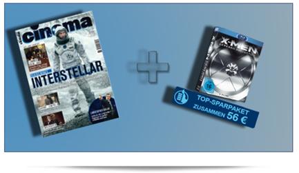 image359 Jahresabo Cinema (Wert 55,20€) + X Men Cerebro Collection [Blu ray] (Wert 46,99€) für zusammen 56€