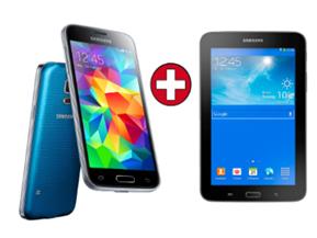 image382 Samsung Galaxy S5 mini 16GB  inkl. Tab 3 7.0 Lite schwarz für 333€