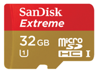 image383 SanDisk Extreme microSDHC Speicherkarte (32GB, Class 10, UHS 1, 48 MB/s ) ab 14,99€