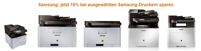 image427 Amazon: 10% Rabatt auf ausgewählte Samsung Drucker