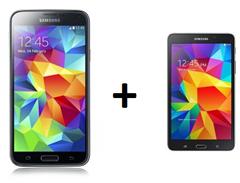 "image465 Telekom (500MB Datenflat, Telekom Flat, 100 Freiminuten, SMS Flat) inkl. gratis Samsung S5 + Galaxy Tab 4 (10"") für 29,95€/Monat"