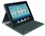 image468 Logitech Bluetooth Solar Tastatur Foliocover für Apple iPad 2/3/4 in pink (deutsches Tastaturlayout, QWERTZ) für 19,85€