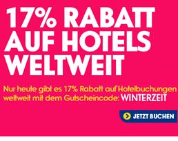 image469 eBookers: heute 17% Rabatt auf Hotelbuchungen