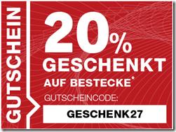 image471 Ab 22 Uhr: 20% Rabatt auf alle Bestecke beim XXXL Shop