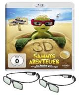 image522 2x 3D Active Shutterbrillen + Sammys Abenteuer (3D Blu ray) für 33,49€