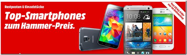 image thumb104 Media Markt: Smartphones bis 9Uhr im Angebot, so z.B. iPhone 5S für 419€, HTC One M7 für 279€ usw.
