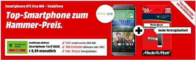 image thumb110 HTC One (M8) in silber oder gold (inkl. Media Markt Prepaid Karte) für je 333€