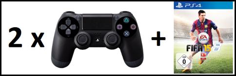image thumb125 2 x PS4 Dualshock Controller + Fifa 15 für 111,97€