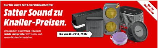 image thumb130 Media Markt: mobile Lautsprecher ab 7€ inklusive Versand