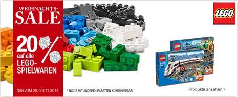 141128 sta m lego weihnachtssale Galeria Kaufhof: 20% Rabatt auf alle LEGO Artikel + 10% Newsletter Rabatt
