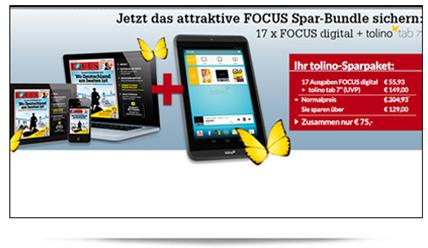 image [nur 200x] 17 x Focus inkl. Tolino Tab 7 für 75€ Gesamtkosten