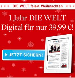 """image 1 Jahr """"Die Welt Digital"""" für nur 39,99€ anstatt 179,88€ oder 2 Monate für 99 Cent"""
