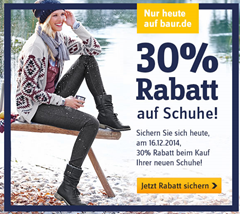 image Baur Versand: nur heute 30% Extra Rabatt auf Schuhe