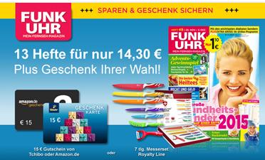 """image bis zu 21 Hefte """"Funk Uhr"""" mit 70 Cent Gewinn lesen"""