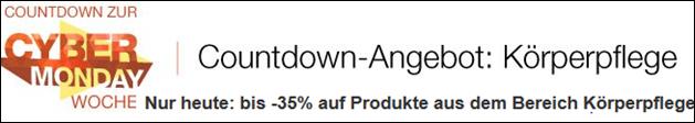 image thumb Amazon: bis zu 35% Rabatt auf Produkte im Bereich Körperpflege