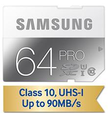 image Samsung SDHC 64GB PRO Class 10 für 35,32€ (Vergleich: 63,99€)