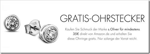 image s.Oliver Ohrstecker gratis (Wert 19,95€) beim Kauf von s.Oliver Schmuck im Wert von 35€