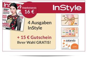 image 4 Ausgaben Instyle für 1€ dank verschiedener 15€ Gutscheine