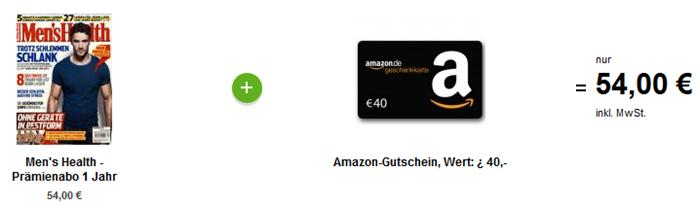 image [Nur 500x] Jahresabo Men´s Health für 14€ (anstatt 54€) dank eines 40€ Amazon Gutscheins