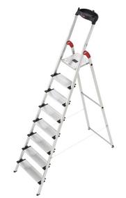 image Ab 9 Uhr: Hailo Aluminium Sicherheits Haushaltsleiter ProfiStep XXL 8 Stufen für 83,10€ (Vergleich: 118,26€)