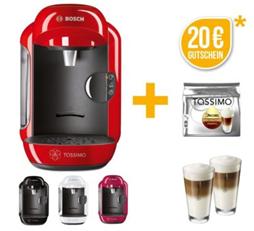 image thumb [Top] Bosch TASSIMO VIVY + 20€ Gutschein + 8 Kapseln + 2 WMF Gläser für 29,99€