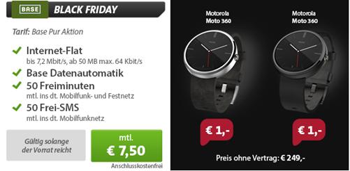 image Dank Vertrag Motorola Moto 360 Smart Watch für 181€