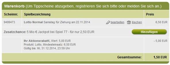screen thumb Für Tipp24 Neukunden: 5€ Gutschein (ab 6,50€ einlösbar)