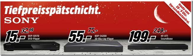 image thumb Media Markt Tiefpreisspätschicht, so z.B. SONY DVP SR170 DVD Player für 15€