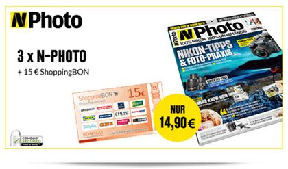 image Probeabo: 3x NPhoto mit 15€ Gutschein für 14,90€