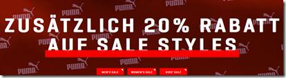 image Puma.de: 20% Extra Rabatt auf alle Sale Artikel