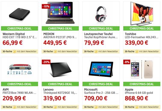 image thumb [Super] Rakuten Christmas Sale mit 30 fachen Superpunkten auf 8 Produkte