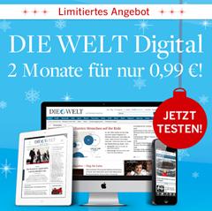 """image 2 Monate """"Die Welt"""" Digital für 99 Cent testen"""