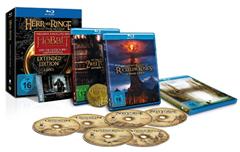 image ab 15:30 Uhr: Der Herr der Ringe  Trilogie (Extended Edition) inkl. Kinogutschein für Hobbit 3 [Blu ray] für 44,99€