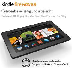 image Kindle Fire HDX 8.9 Tablet um 30 40% reduziert bei Amazon