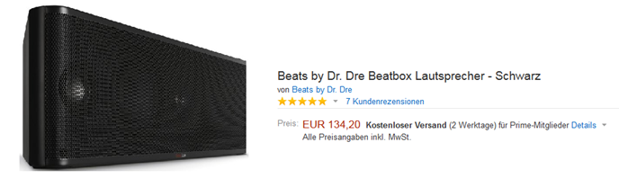 image thumb [Ende] Beats by Dr. Dre Beatbox Lautsprecher–Schwarz für 134,20€