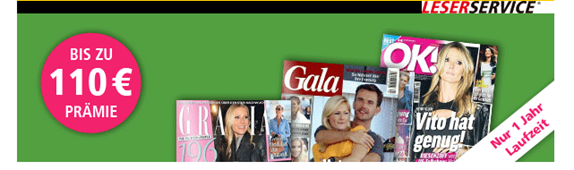 image Zeitschriften Gala, die OK! und die GRAZIA mit bis zu 115€ Rabatt