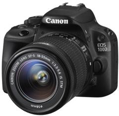 image Canon EOS 100D SLR Digitalkamera inkl. Kit inkl. EF S 18 55mm STM für 399€