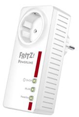 image bis maximal 18 Uhr: AVM FRITZ!Powerline 546E (500 MBit/s, WLAN Access Point, Fast Ethernet LAN, schaltbare Steckdose) für 74,99€
