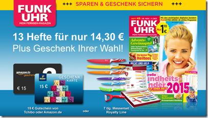 """image [Knaller] bis zu 21 Hefte """"Funk Uhr"""" mit 5,70 Euro Gewinn lesen"""