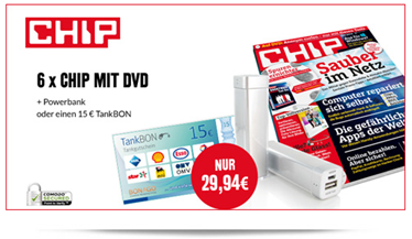 image 6 x Chip mit DVD für 14,94€ anstatt 29,94€