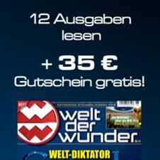 image 12 Ausgaben Welt der Wunder für 10,60€ anstatt 45,60€ dank 35€ Amazon Gutschein