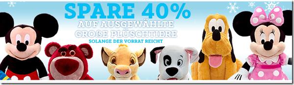 image DisneyStore: 40% Rabatt auf ausgewählte große Plüschtiere