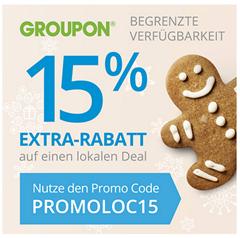 image Groupon: 15% Rabatt auf fast alle Deals, so z.B. 50€ Beate Uhse Gutschein für 16,96€