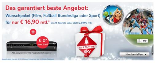 image Sky Welt inkl. Wunschpaket (z.B. Bundesliga) für 16,90€/Monat