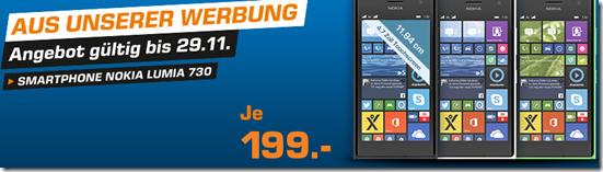 image Saturn TV Angebot: Nokia Lumia 730 Smartphone für 199€